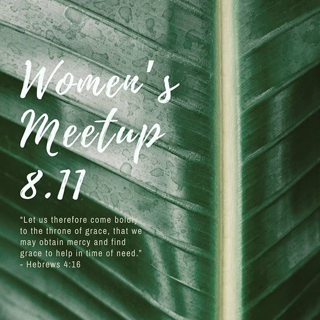 Women's meetup in three weeks, mark it in your calendars!