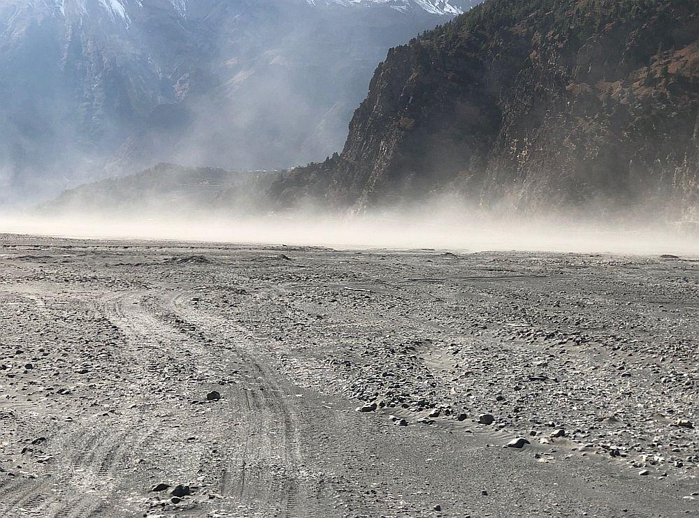 """Kali Gandaki Nadi """"river"""" bed."""