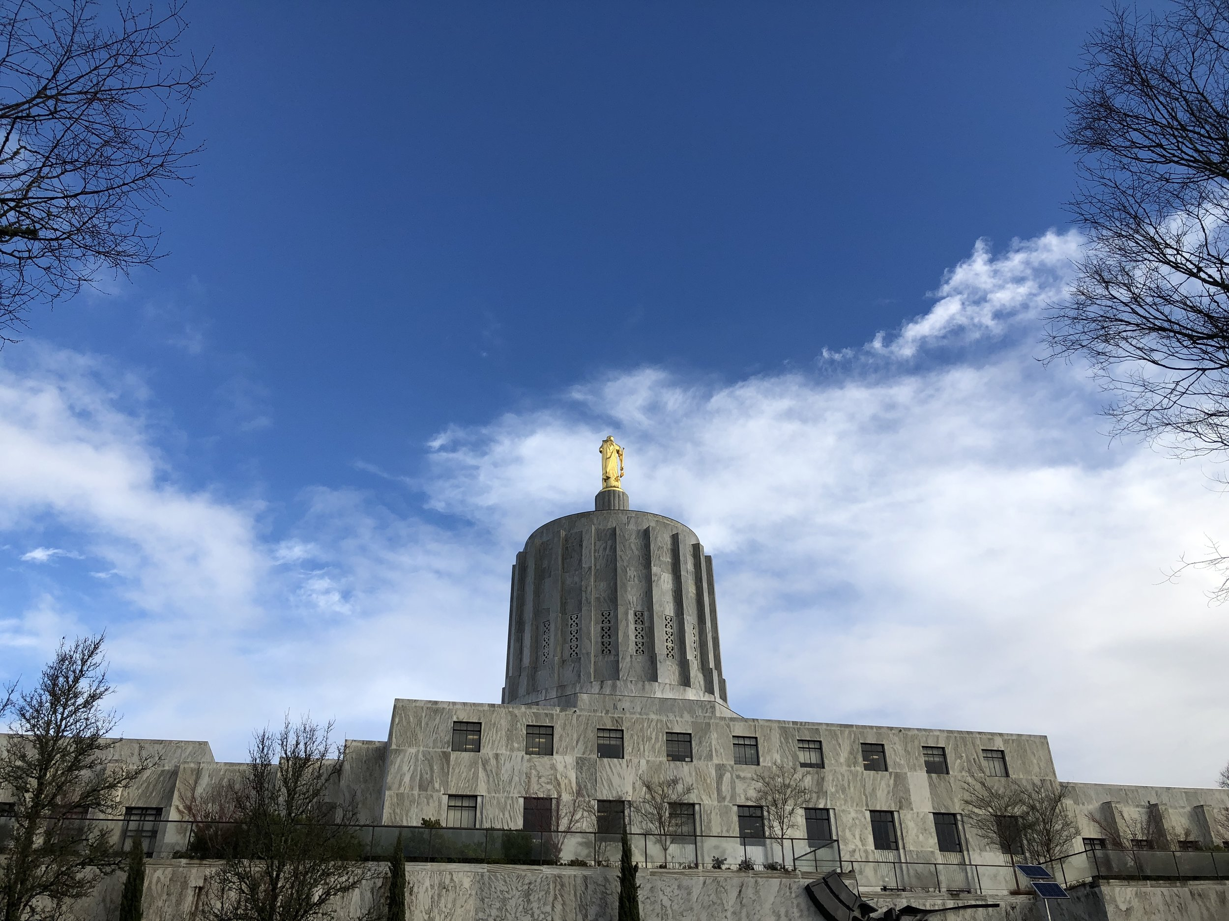 Lo, the only state capitol I saw on this trip. Not so much interested in architecture, are we Oregon?