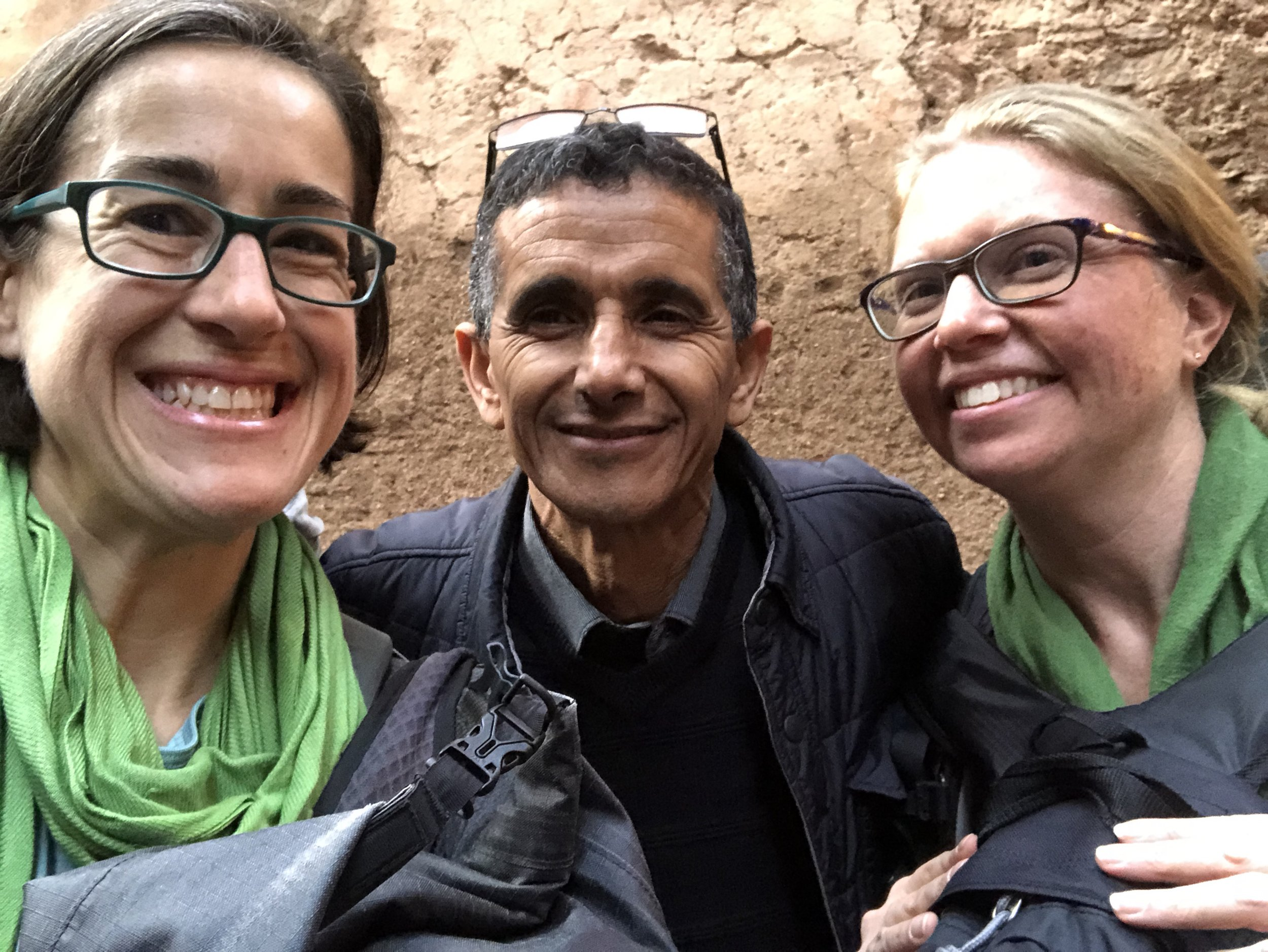Me, Jamal and Liz, moments after finding the front door of our riad.