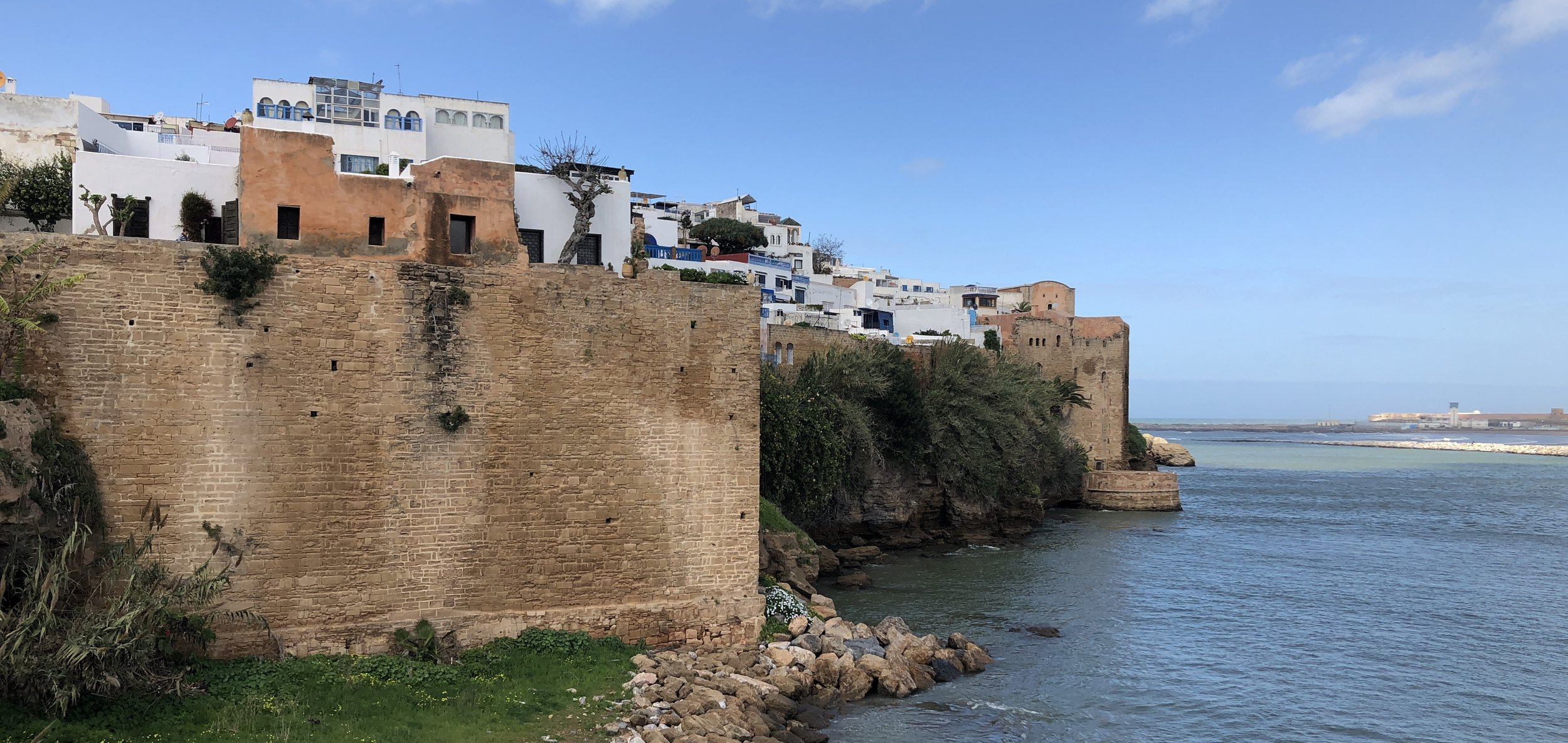 Part of the Rabat medina, encircled by fortress walls and perched at the edge of the Atlantic.