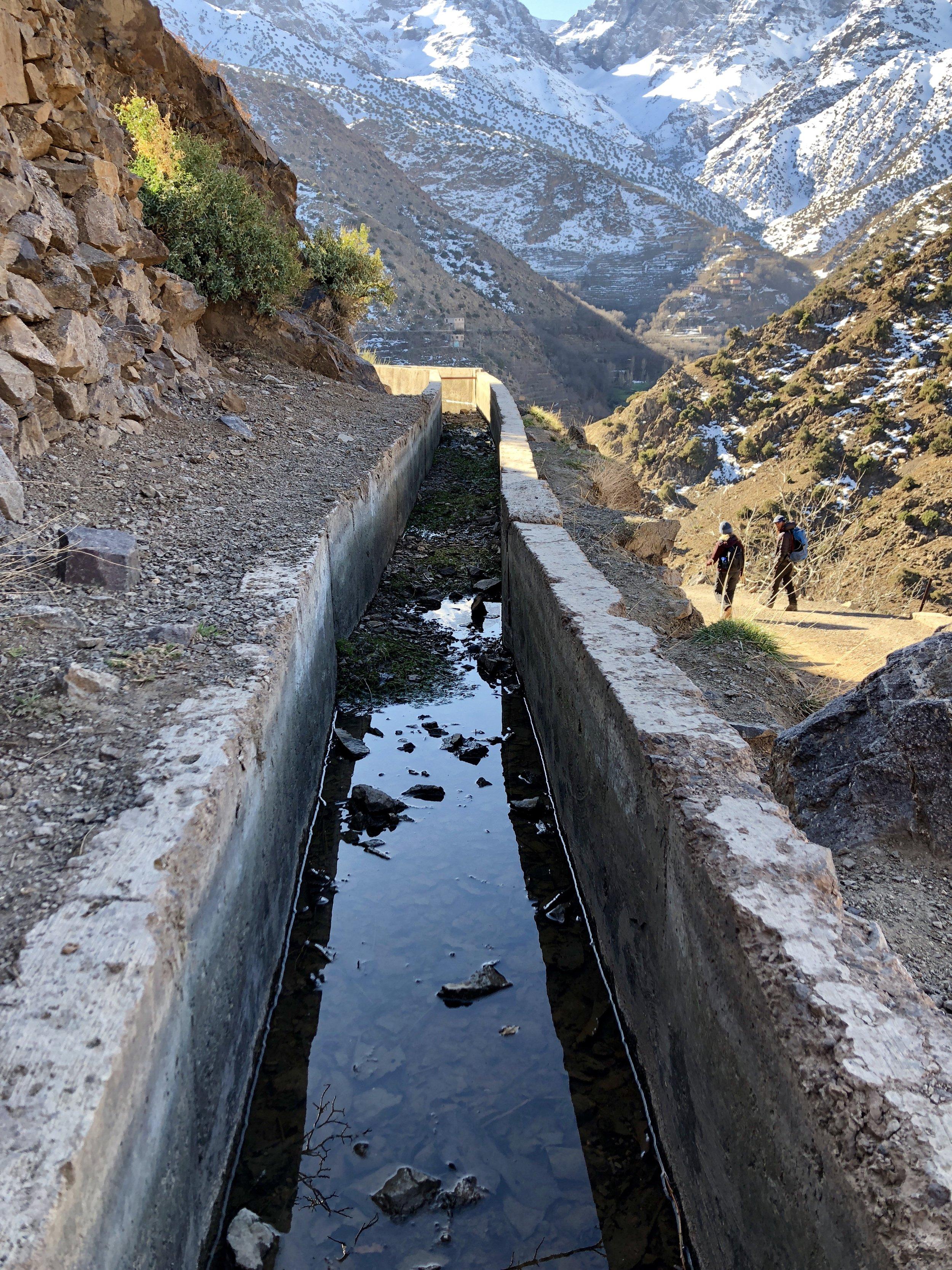 Irrigation channel.