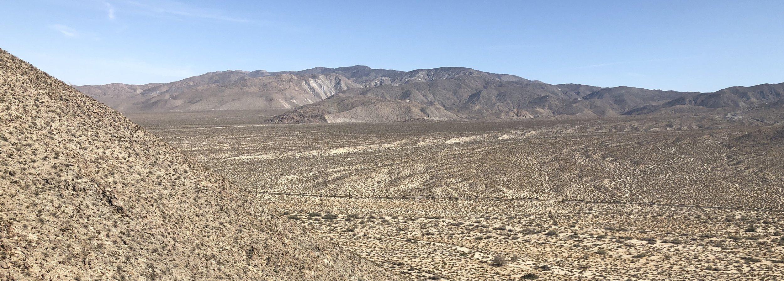 Hot Stuff! Anza-Borrego Desert, east of San Diego.