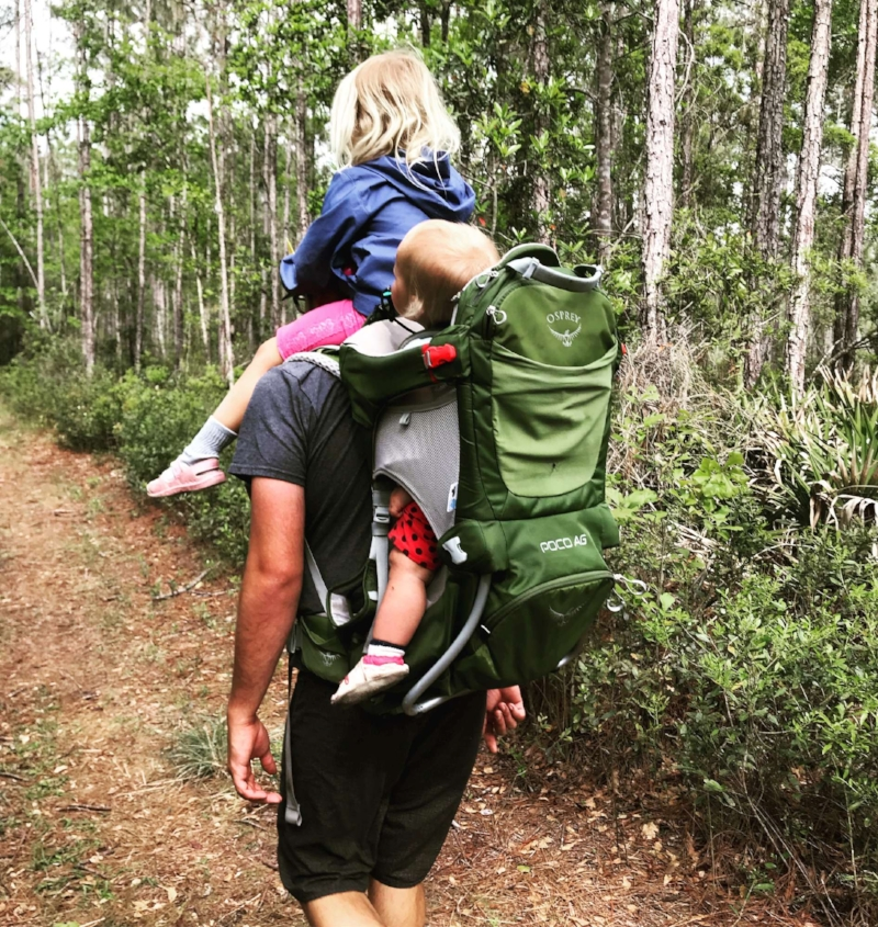Family hiking is easier with this backpack!