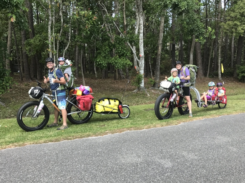 We loaded down our 2 fat bikes with kids and gear for an epic cross-Florida bike trip in Spring 2018.