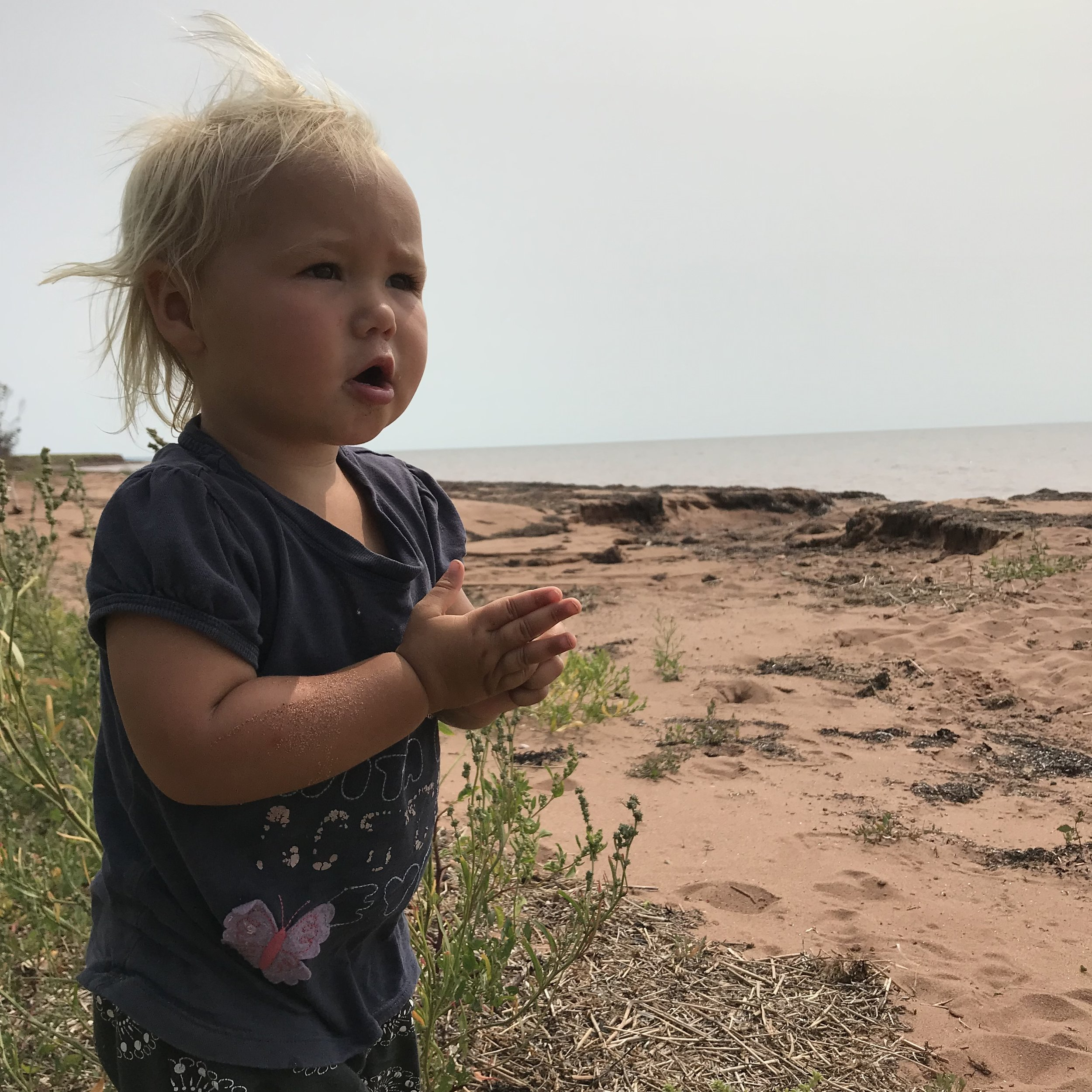 Sprout #4 has spent almost her entire life outdoors in the sand, wind, sun and rain and she LOVES it! We are so glad we are able to do these things as a family and make so many wonderful memories!