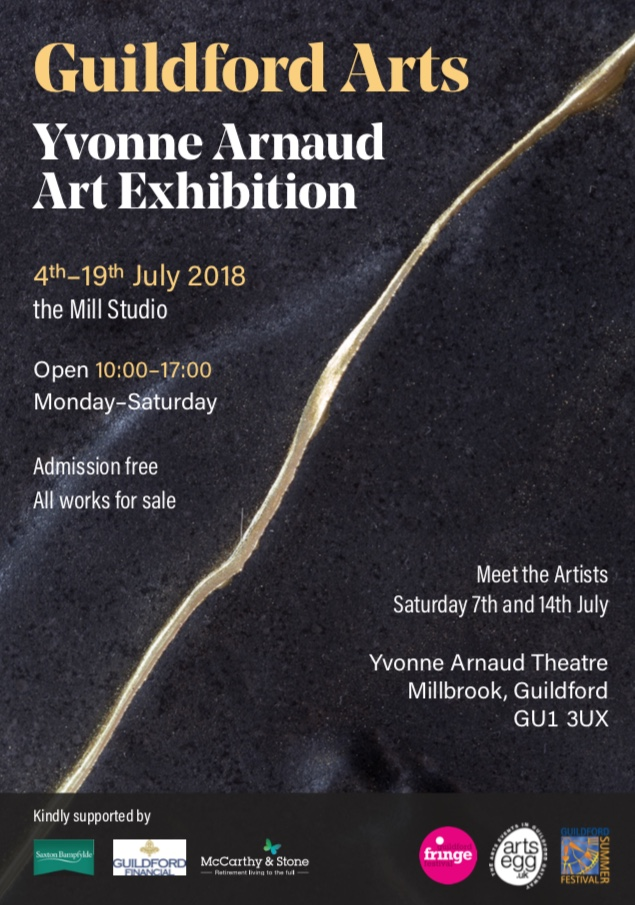 Guildford Arts Summer Exhibition - Delighted to be part of this years Guildford Arts Summer Exhibition at the Yvonne Arnauld Theatre's Mill Studio. The exhibition of paintings, photography, printmaking and sculpture is presented by Guildford Arts and is on from 4-19 July 2018.