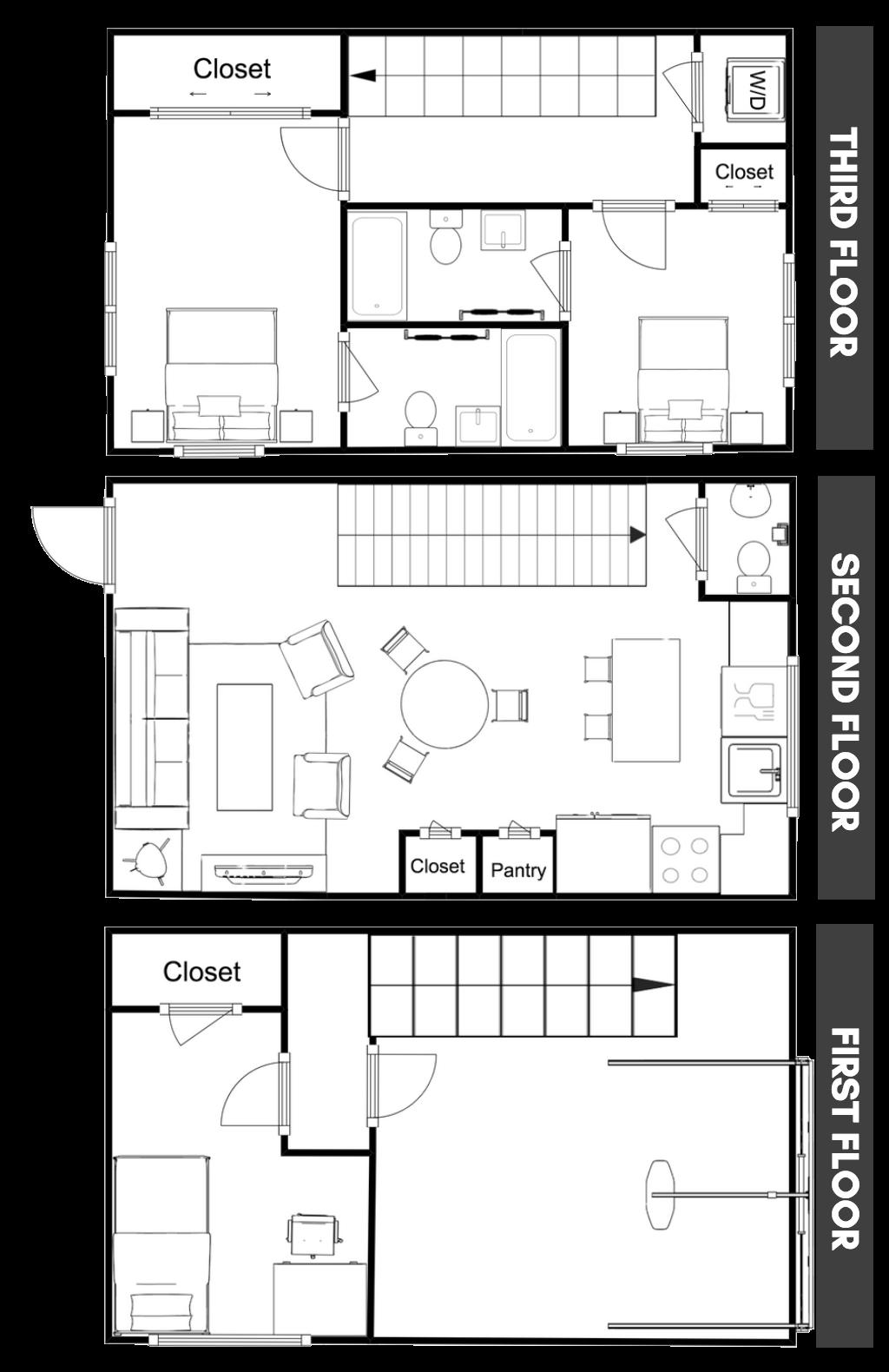 Greenbelt Station Townhome Floorplan