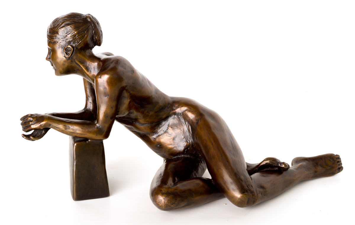 Talking with a Friend - This figure captures the casual intimacy that accompanies a modern quest for openness and friendship. She embodies the earnest inquiry and frank comfort that is a physical hallmark of living comfortably in one's skin.