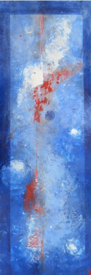 """LONGING  When we have lost someone dear to us, we find ourselves at times with whispers of longing for that which can never be retrieved.  36 x 12"""" 