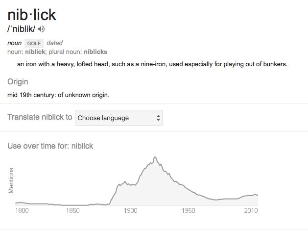niblick definition