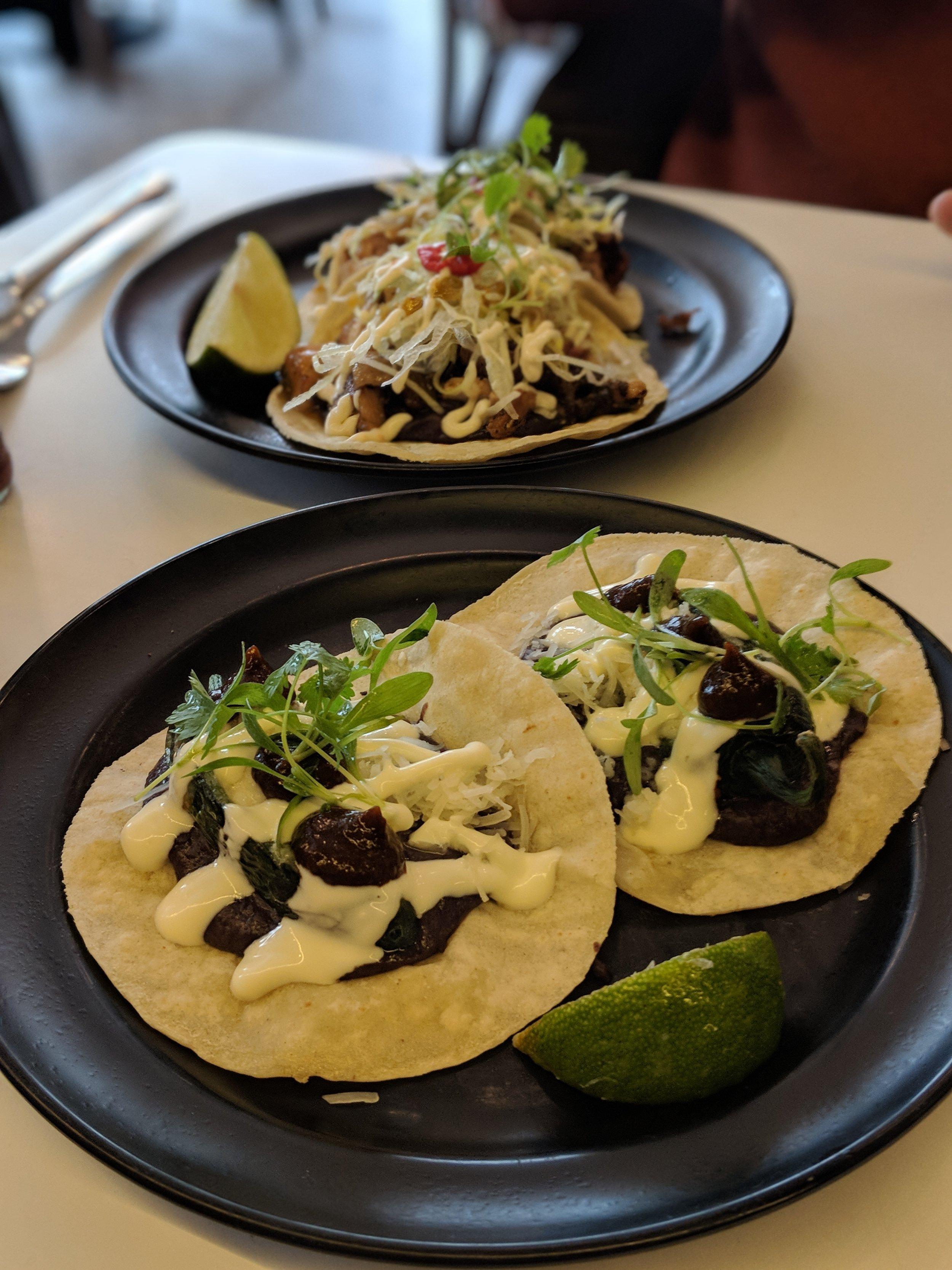 Veggie jalapeño tacos from Tacqueria