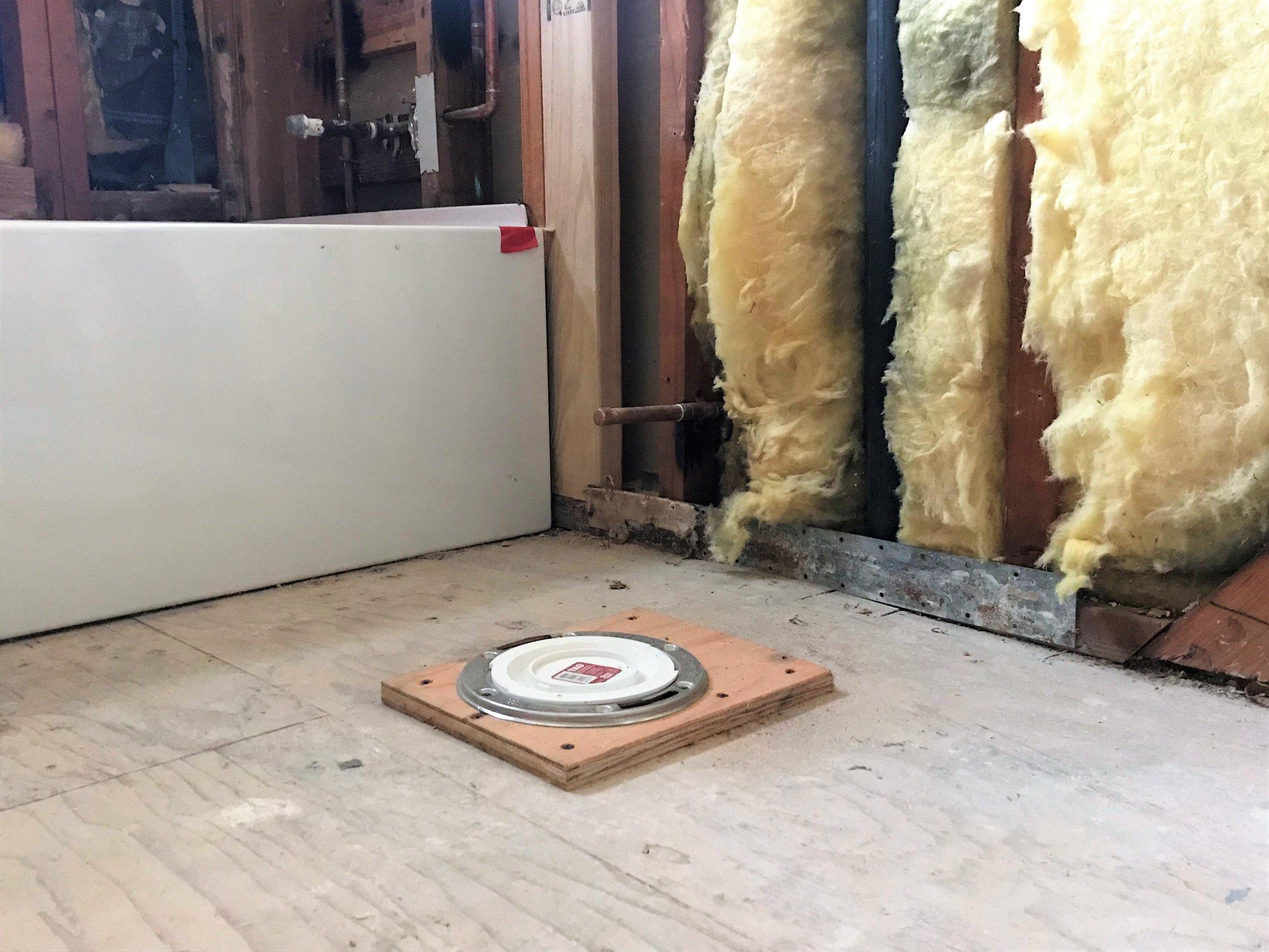 Toilet Waste Line Modification
