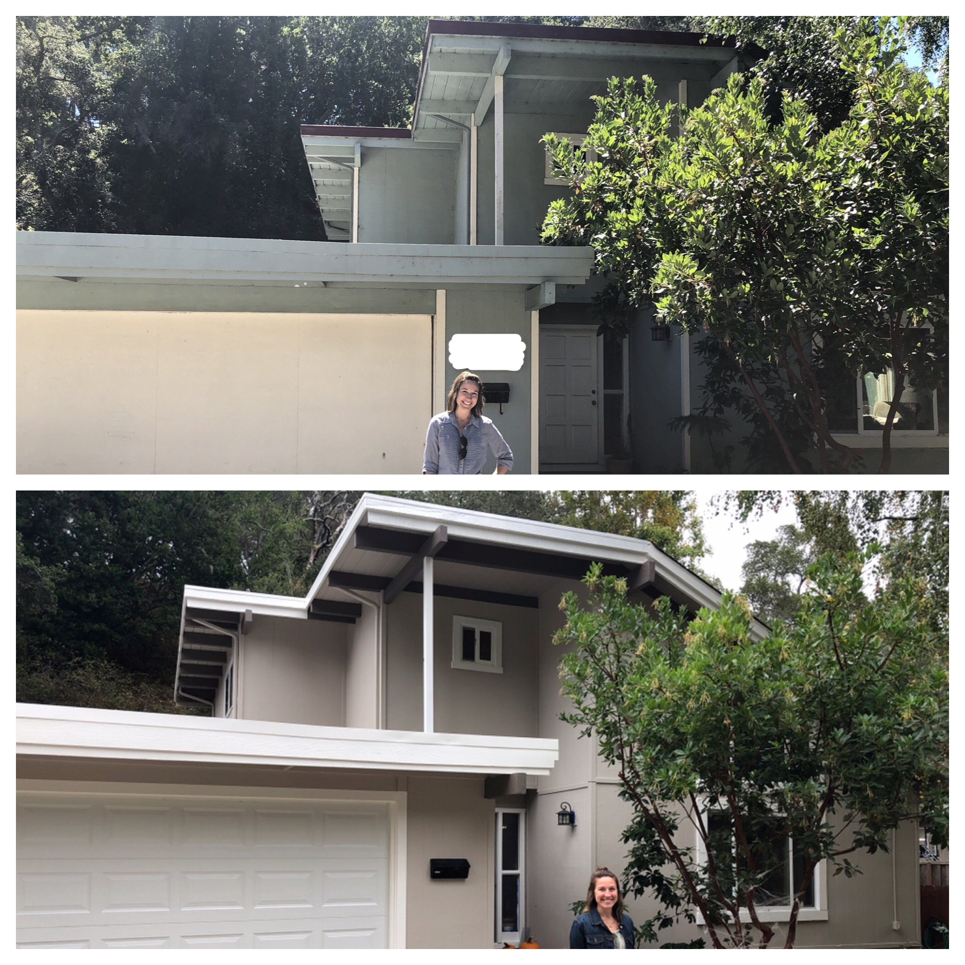 Before (with house numbers blocked) and After!