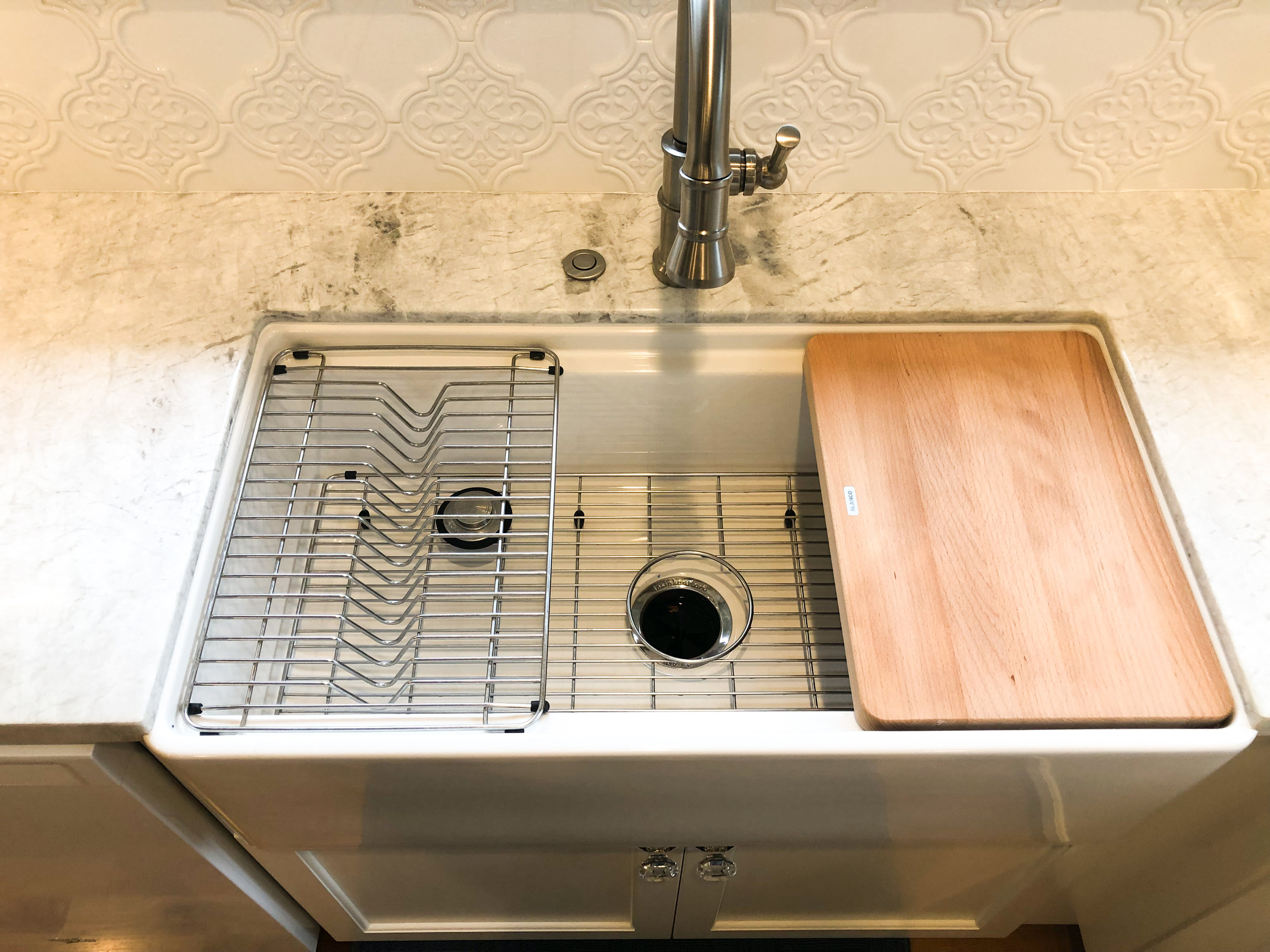 You can still get the bottom grid too… but look at all the additional functions your kitchen sink has now!