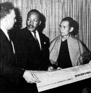 Zen Master Thich Nhat Hanh  (Thay) meets with Rev. Dr. Martin Luther King, Jr.