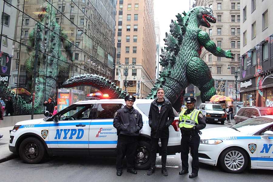 Not only is it hard to convince people — especially cops — to pose for his photos, but Murray said recreating Godzilla's shadow is also challenging, although he's gotten better at it overtime. ( @ryangodziling )
