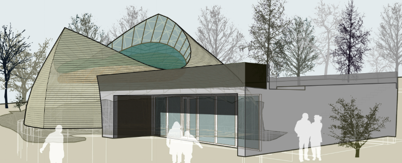 A rendering of Ásatrúarfélagið's forthcoming temple by the architect Magnus Jensson. (Photo:  Magnus Jensson )