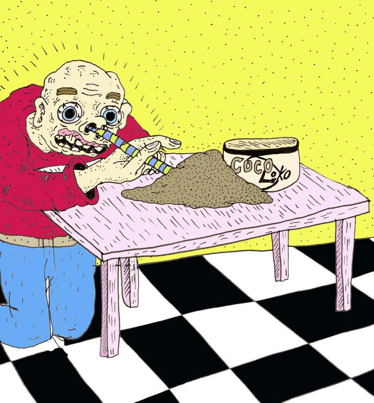Snorting chocolate is actually a thing that some people do. (Art:  Jonathan M. Hall )