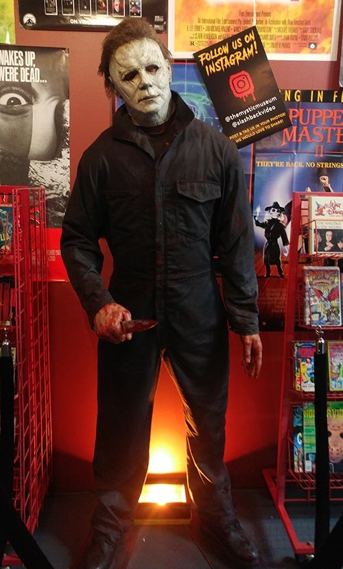 This Michael Myers statue serves as a good reminder not to touch the tapes…or else.  (   Marybeth Connaughton   )