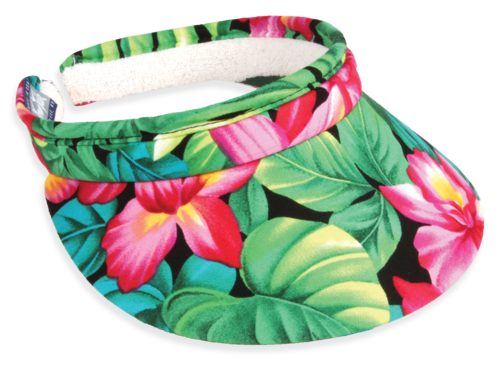 hawaiian-flower-visor