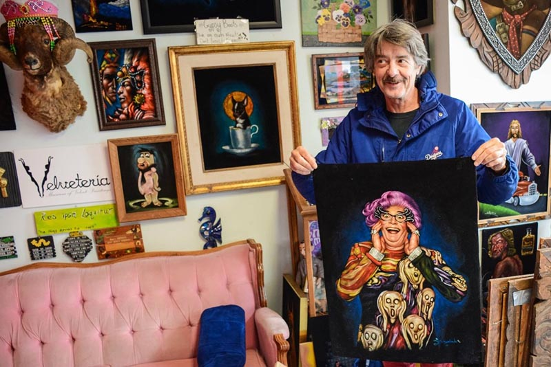 Carl Baldwin, the owner and founder of Velveteria Museum has a thing for art that doesn't take itself too seriously. ( Photo:    Velveteria  )