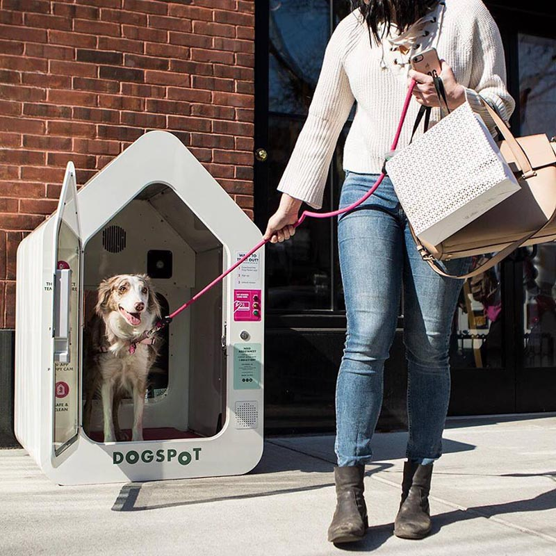 Can't bring your dog inside a store? If there's a DogSpot kennel nearby, they can chill in there while you shop.   (DogSpot)