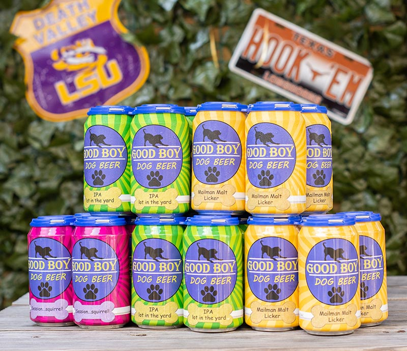 You can get one can for $5 or a 4-pack for $18 on Good Boy's website.   (Good Boy Dog Beer)