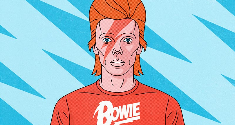 """Ground Control to Major Tom. Take your protein pills and put your Bowie T-shirt on…""  Art:    Bryan E. West"