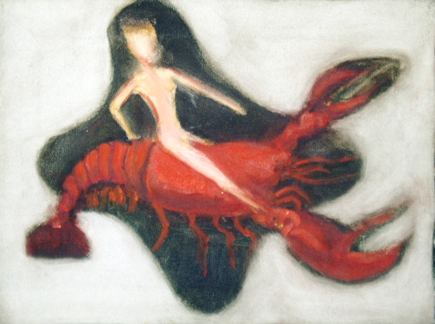 """Woman Riding Crustacean"""