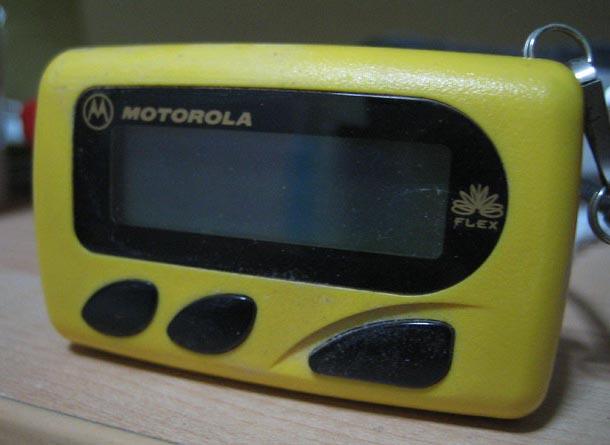A Motorola Bravo Flex pager from 1997. (Flickr/ gurmit singh )