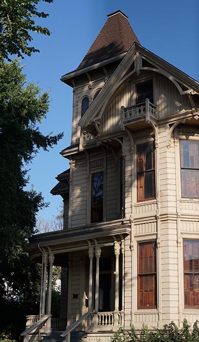 The Cohen-Bray house in east Oakland's Fruitvale neighborhood is an anomaly on its block.