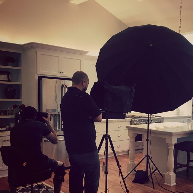 Back on set today, shooting an ad campaign for an appliance company. #nashville #photographer #paulcbuff