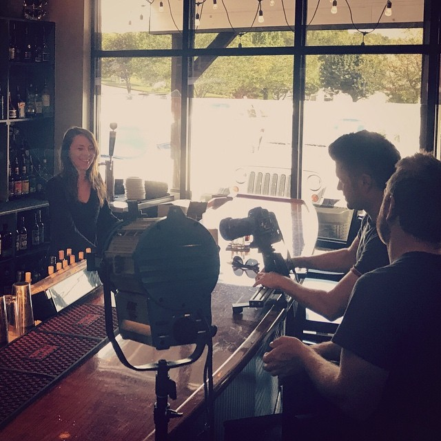A little behind-the-scenes peek from yesterday's video shoot for Coca-Cola. #videographer #nashville