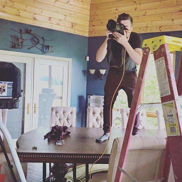 When a ladder just won't cut it. #nashvillephotographer #cincinnati #nashvillephotographers #nashvillephotography