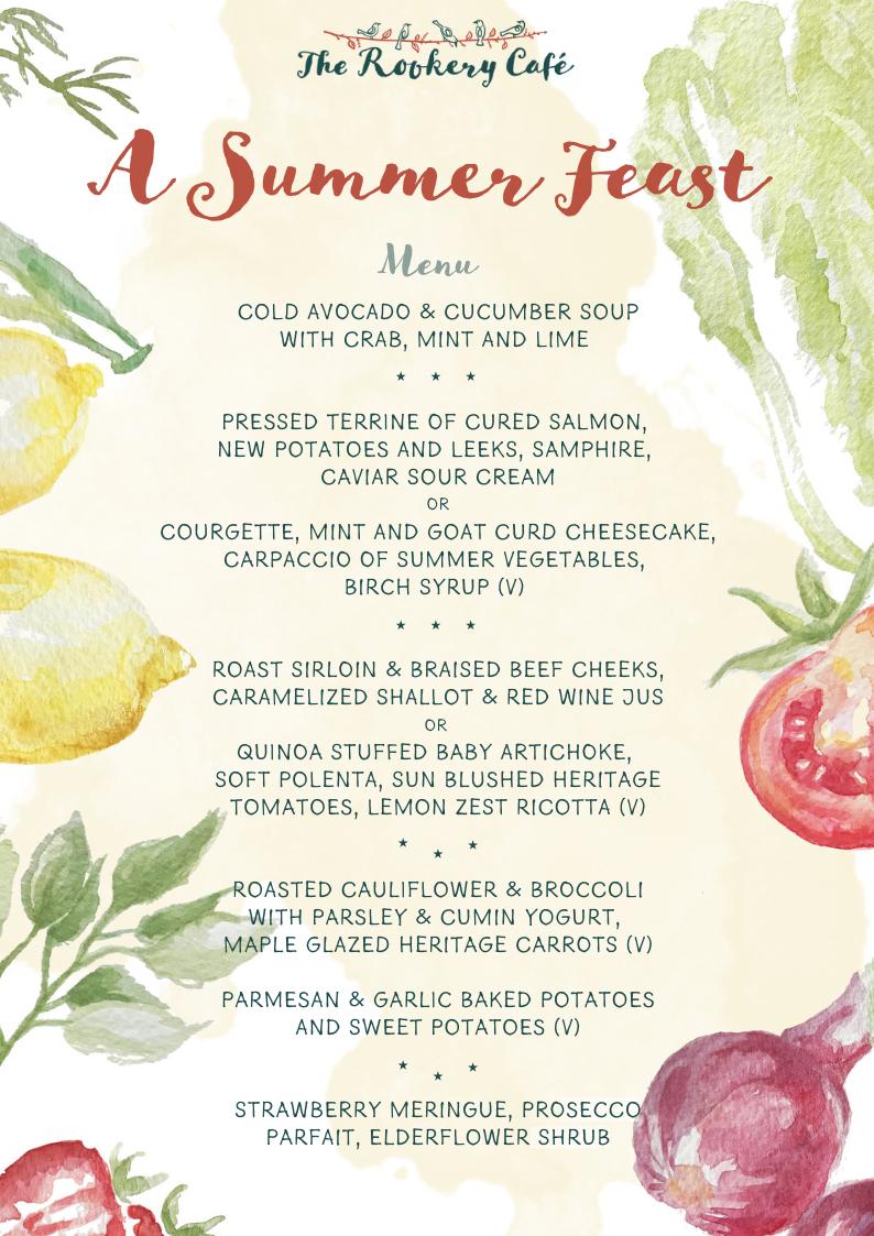 Summer Feast Menu