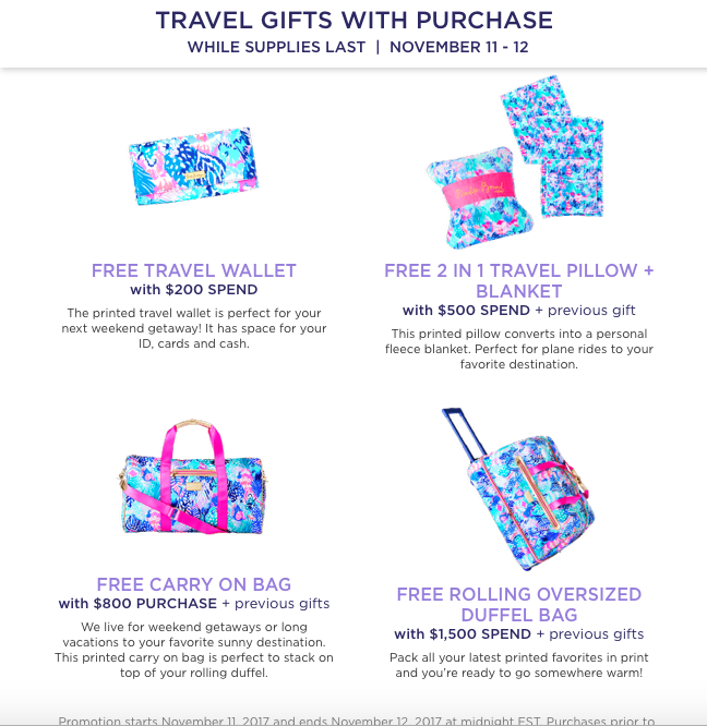 Lilly Pulitzer Gifts With Purchase