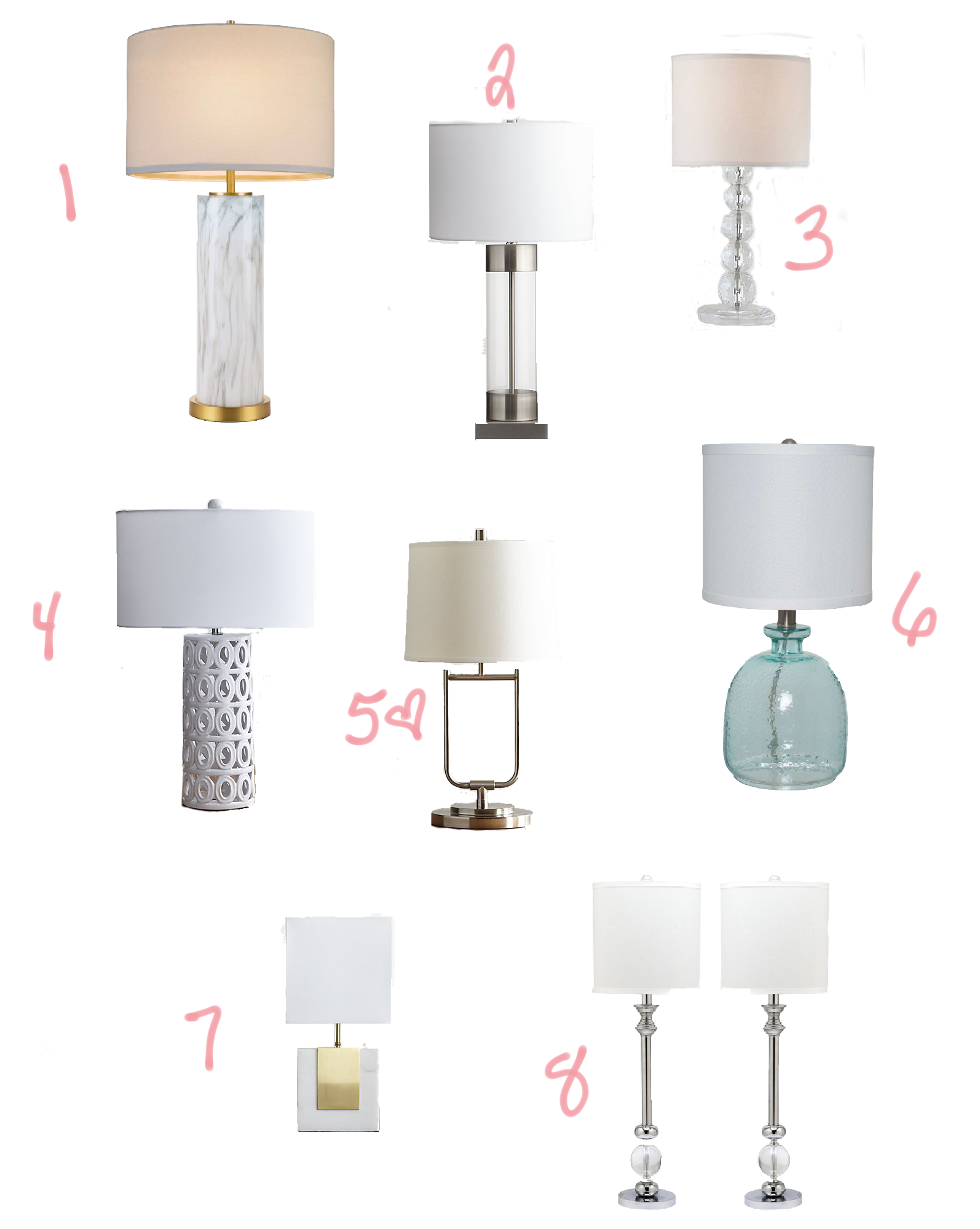 Eight Great Table Lamps