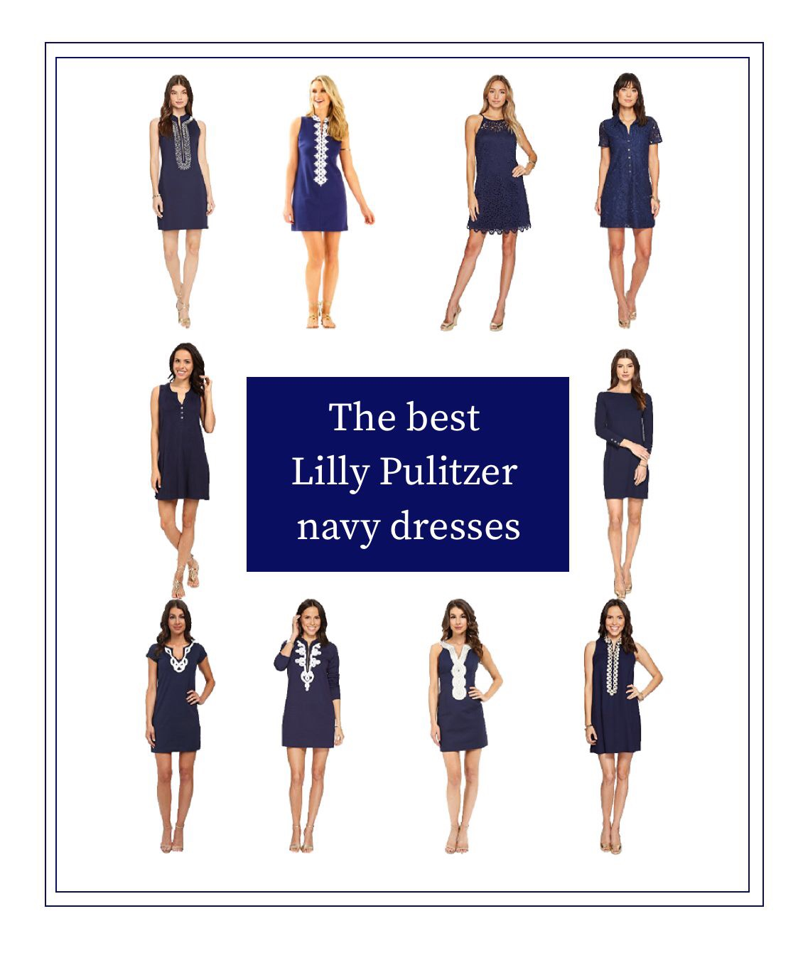 The best Lilly Pulitzer Navy Dresses