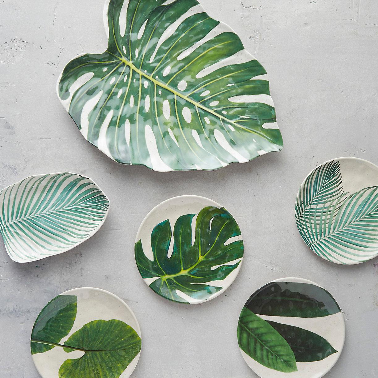 Palm Leaf Melamine Platter