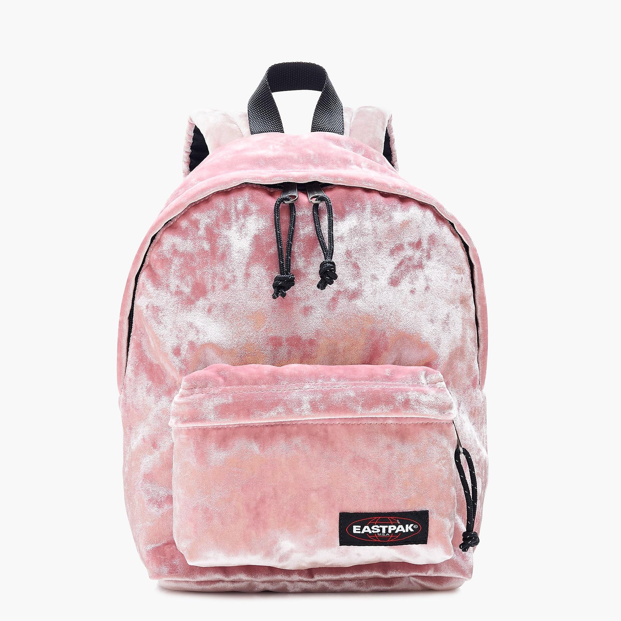 Pink Velvet Backpack
