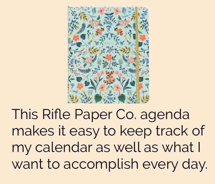 Rifle Paper Co. Agenda