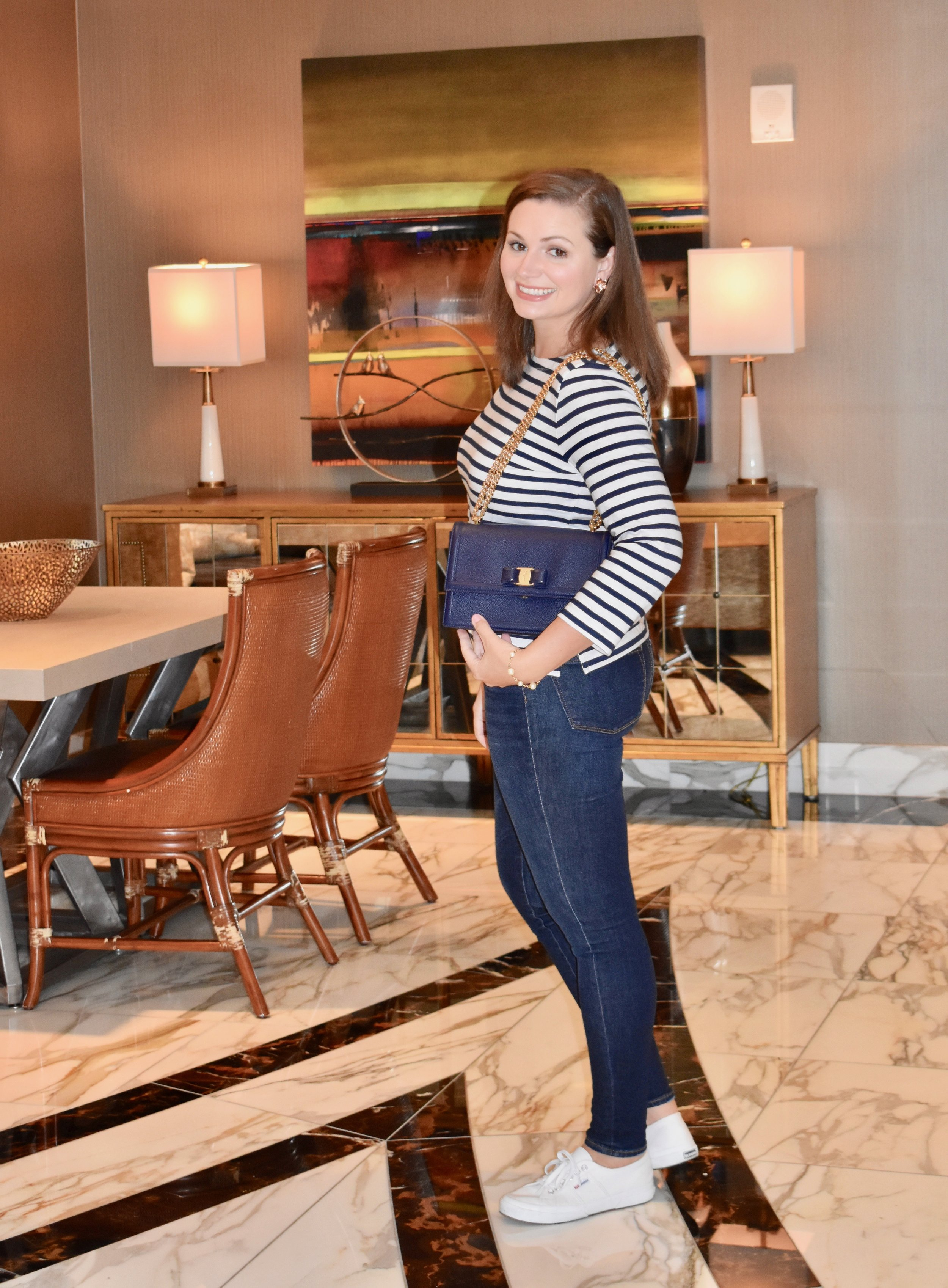 J.Crew striped tee for fall