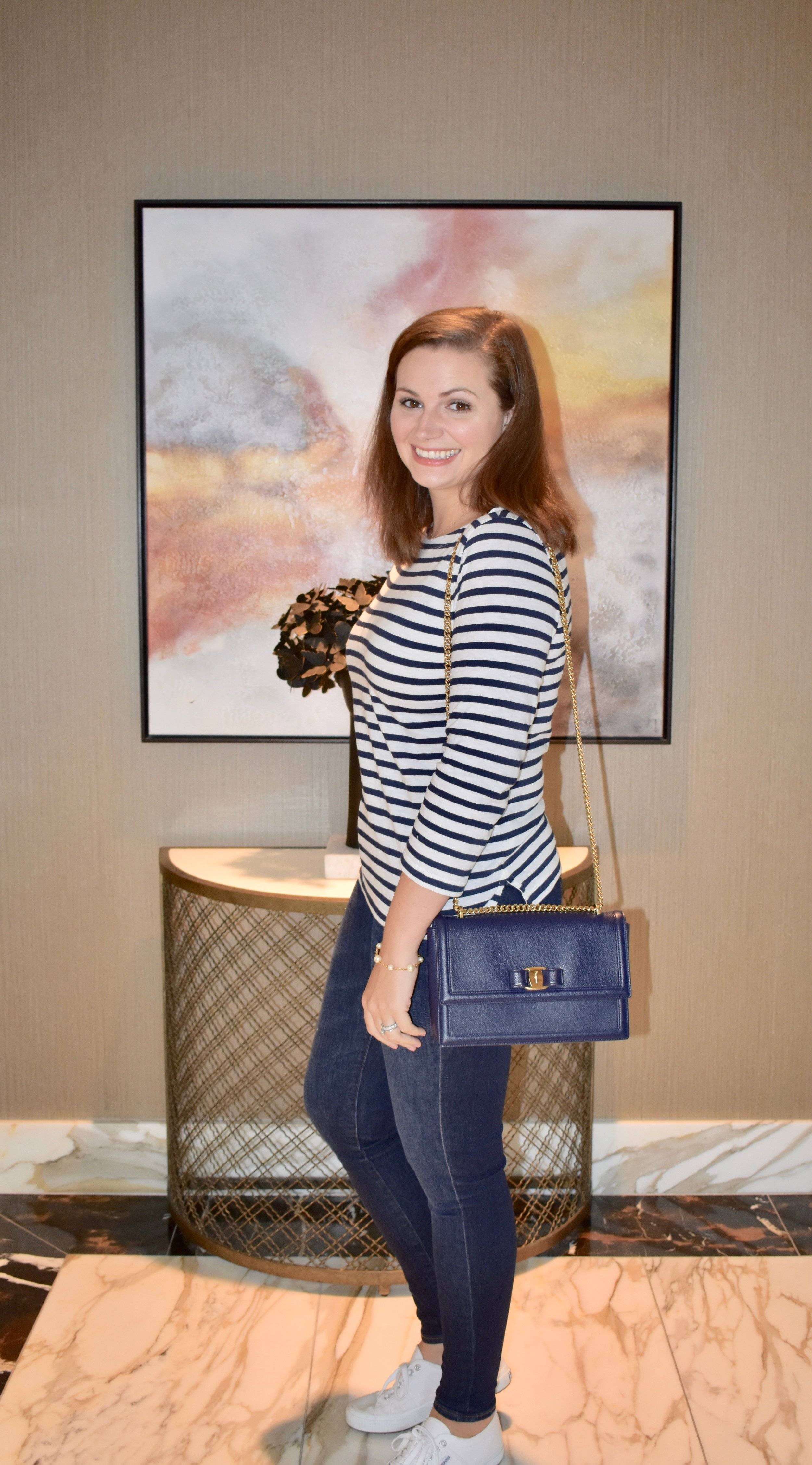 J.Crew striped top for fall