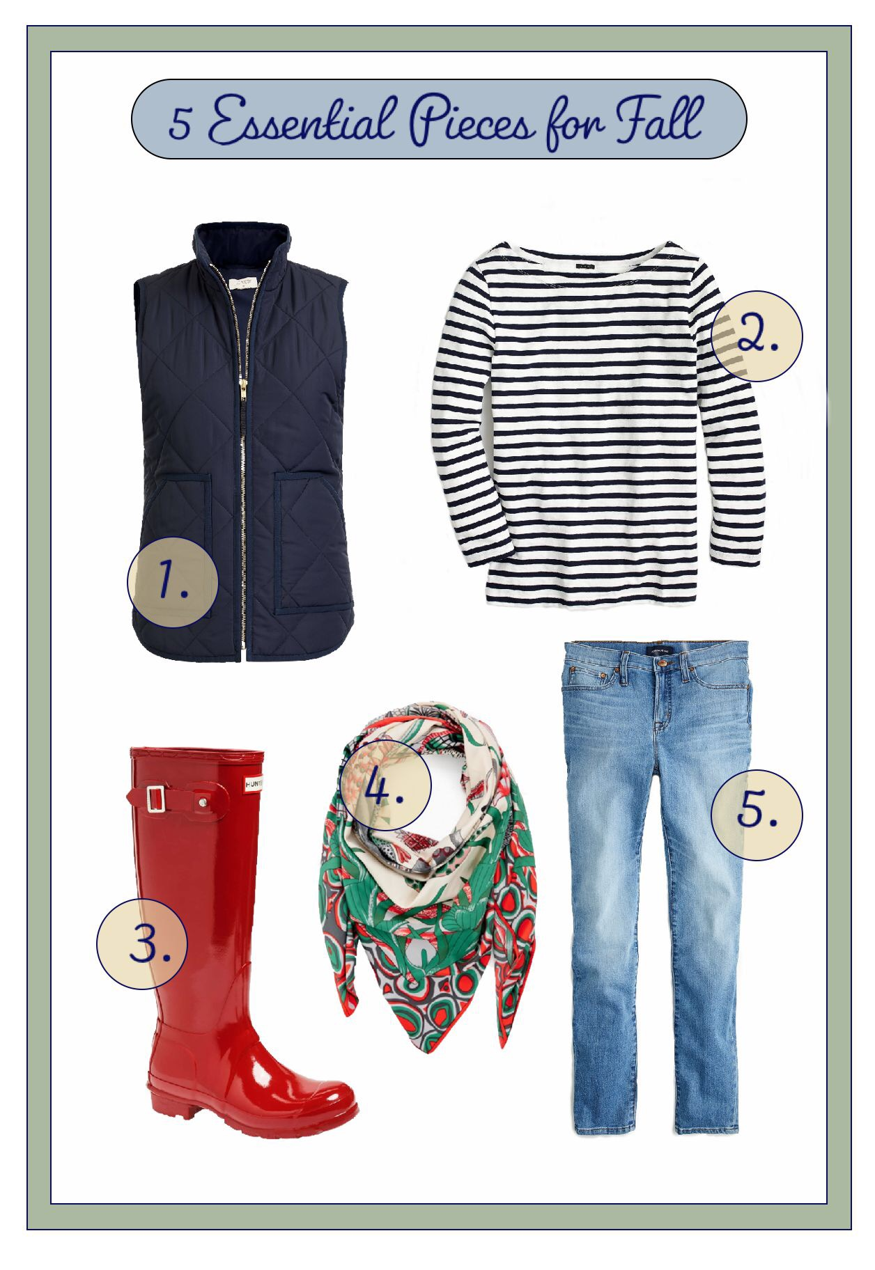 Five Essential Pieces for Fall