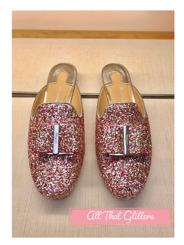 Salvador Ferragamo Glitter Shoes