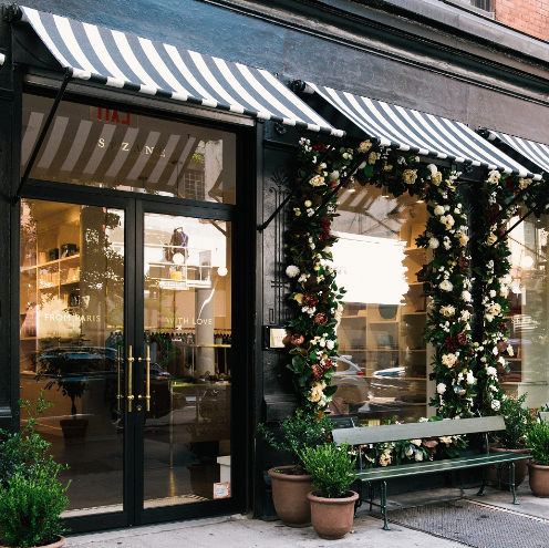 Sezane store in NYC