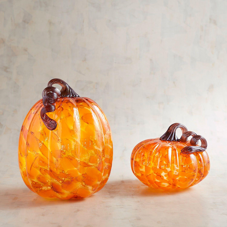 Light Up Glass Pumpkin