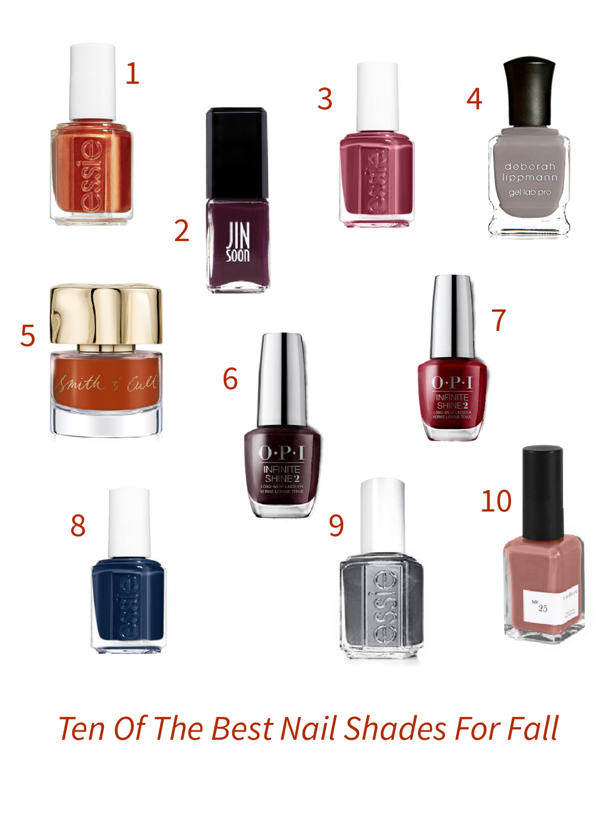 10 Best Nail Polish Colors For Fall