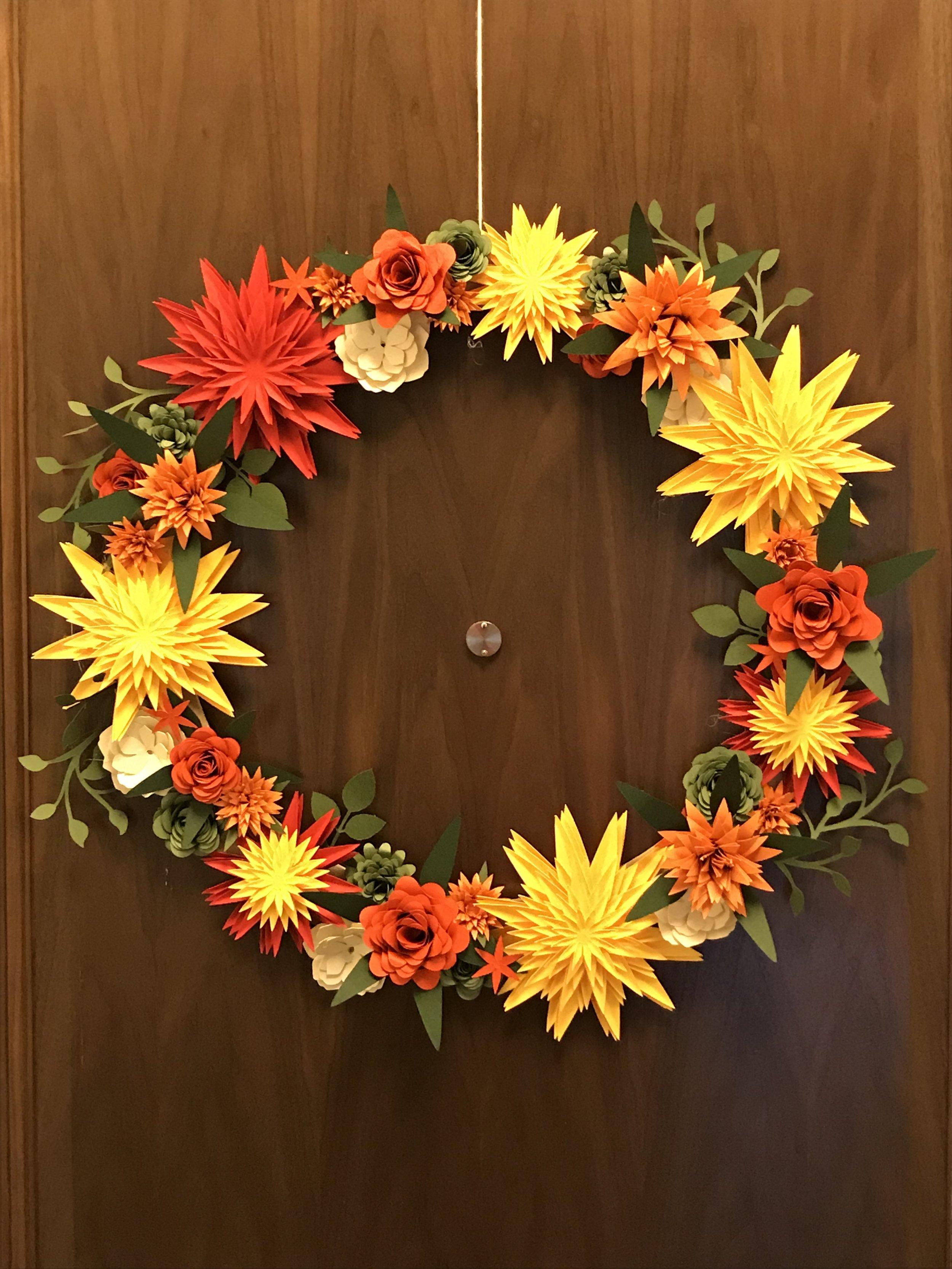 Fall Cricut Wreath